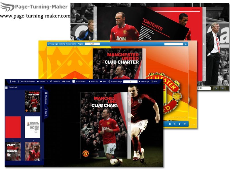 Man Utd Theme for Page Turning Book