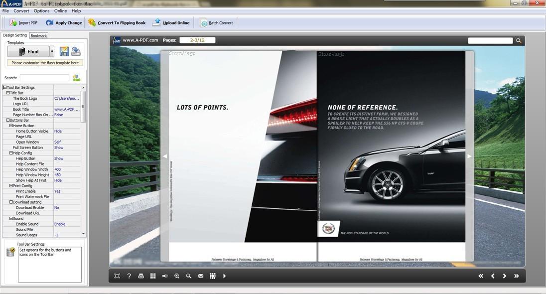 A-PDF to Flipbook for Mac(Flip PDF for Mac)