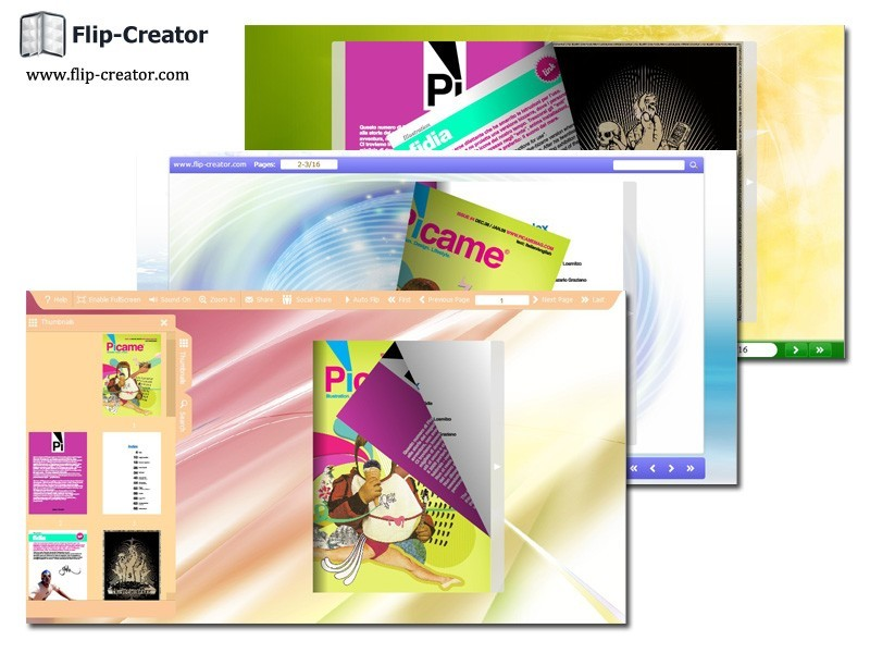 Dazzle Color Template for Flip Book