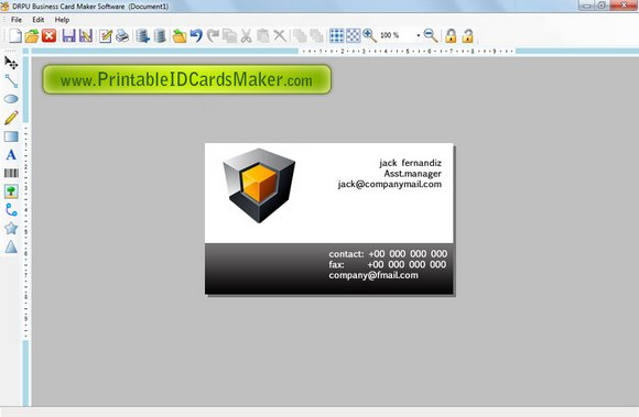 Creating Business Card