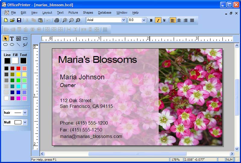 free  software business card maker