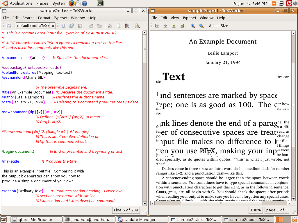 TeXworks for Linux 0.4.3 r858