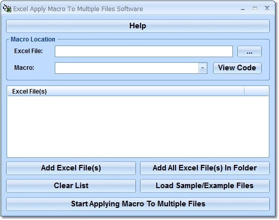 Excel Apply Macro To Multiple Files Software