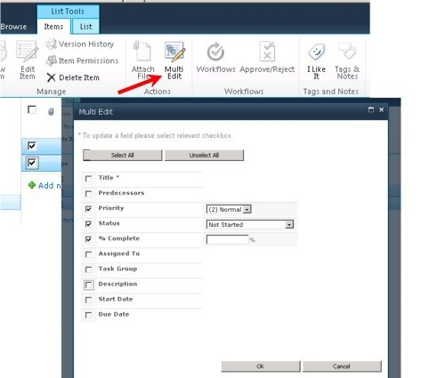 SharePoint Multi Edit Feature