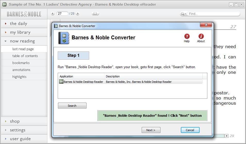 NOOK eBook to PDF Converter