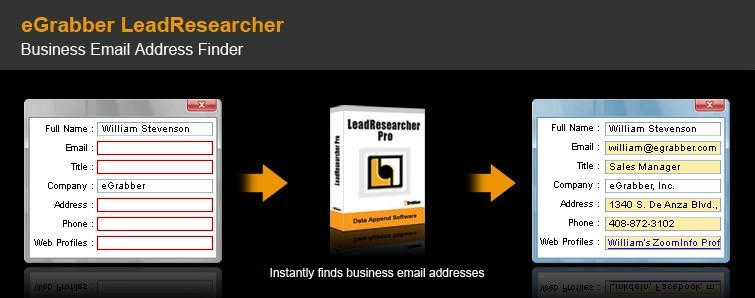 Email Address Finder Software - eGrabber LeadResearcher Standard