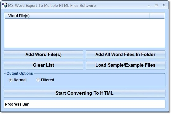 MS Word Export To Multiple HTML Files Software