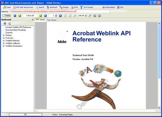 PDF Text Word RTF Converter & Viewer