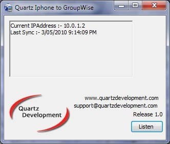 IPhone to GroupWise