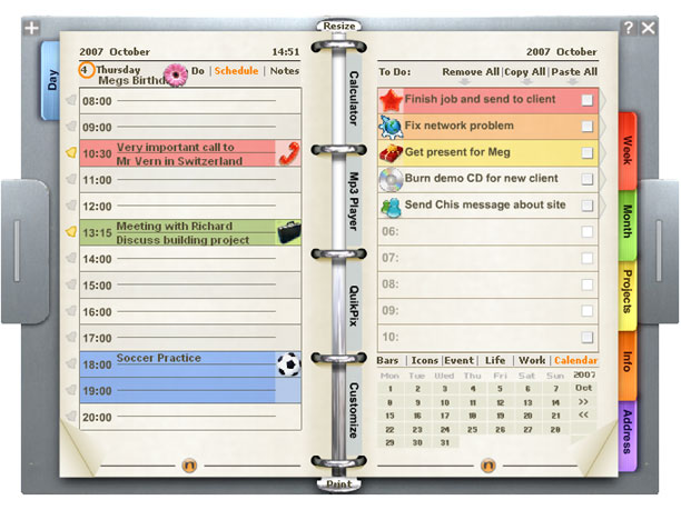 Download free personal organizer by r e g software v 7 for Software planner