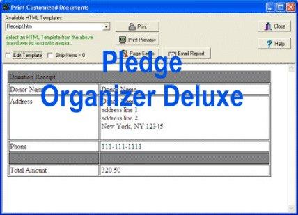 Pledge Organizer Deluxe