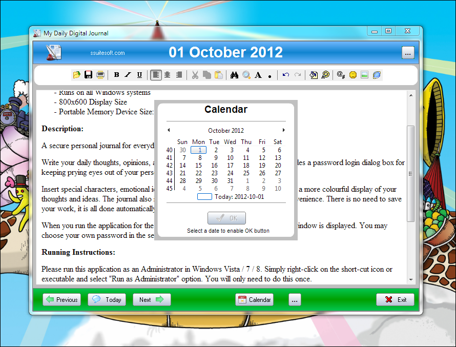 Calendar Diy Software : Download free ssuite office my calendar diary portable