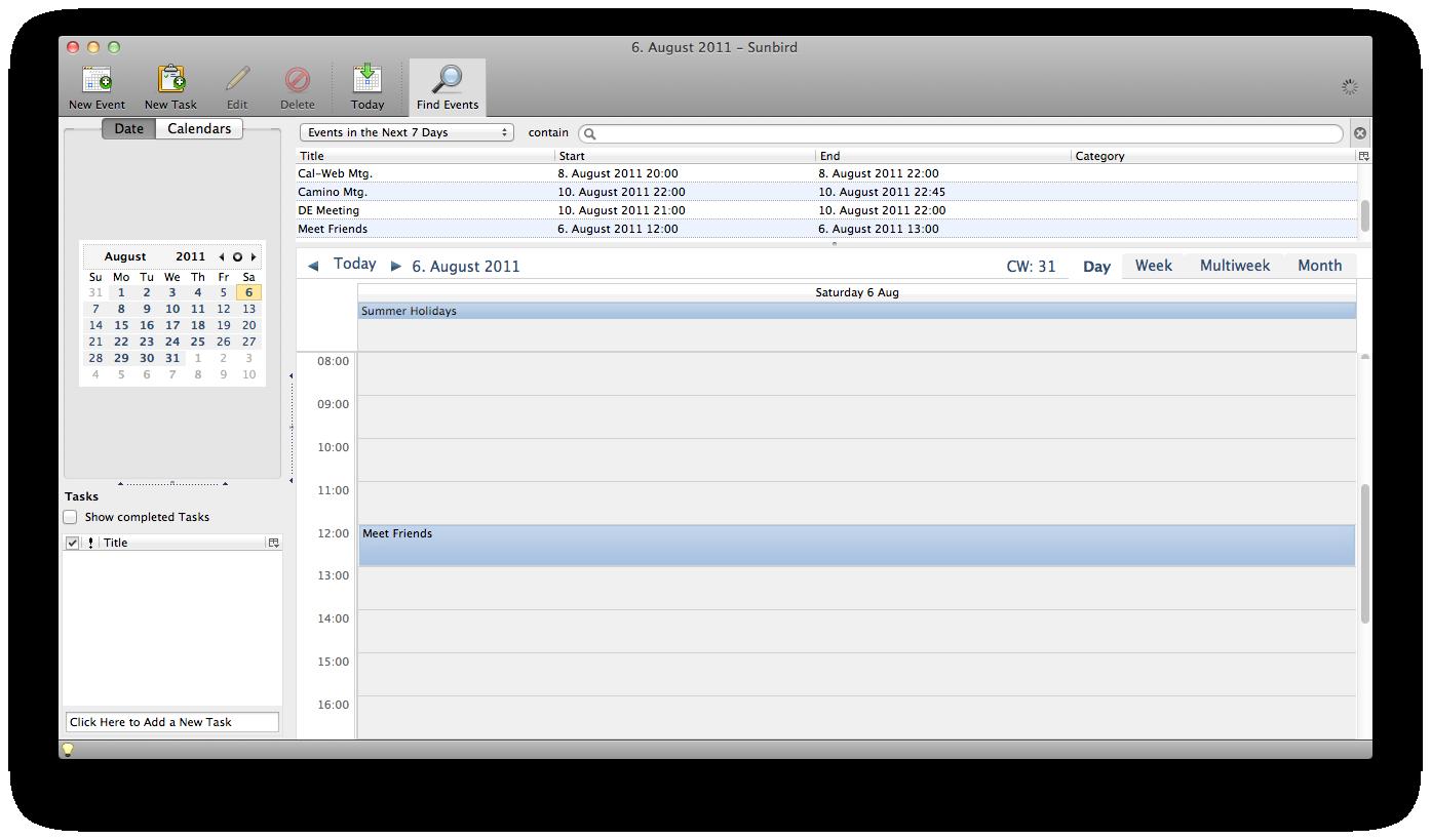 Mozilla Sunbird 1.0 beta1