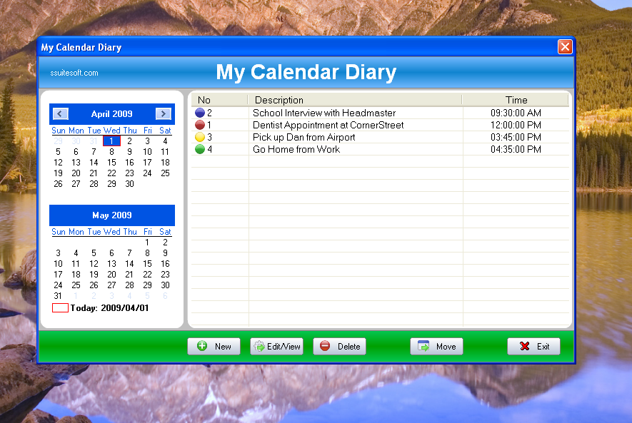 SSuite Office - My Calendar Diary Portable
