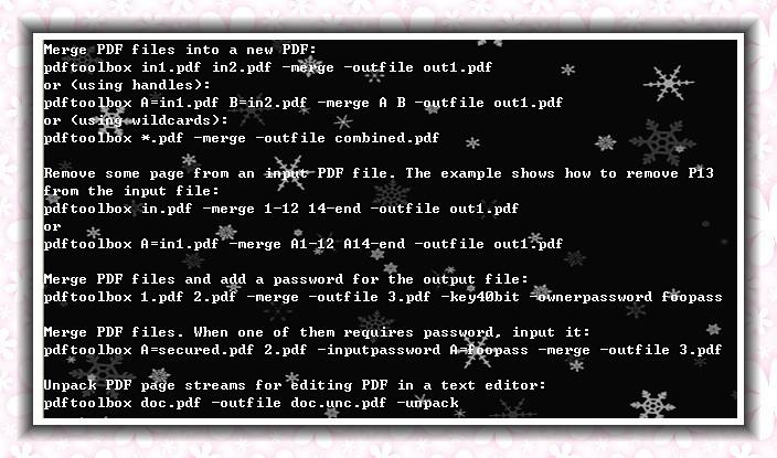 VeryPDF PDF Merger Command Line