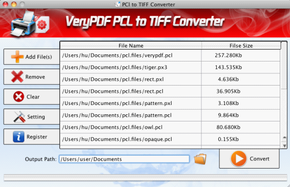VeryPDF PCL to TIFF Converter for Mac