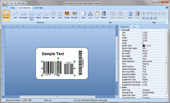Custom Card Template label making software : Download free Aulux Barcode Label Maker Professional by ...