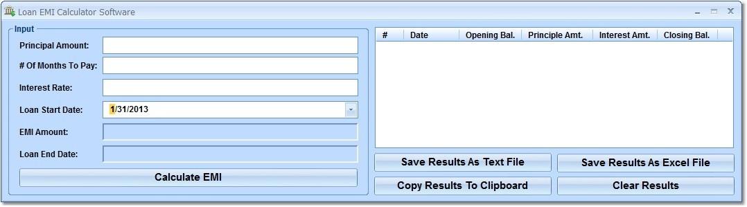 Loan EMI Calculator Software