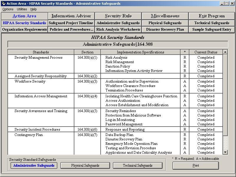 Business Assoc HIPAA Security Rule Asst.