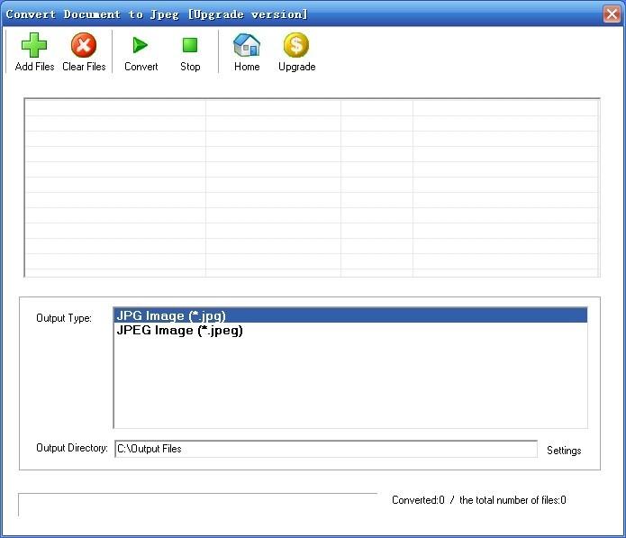 Convert Document to Jpeg