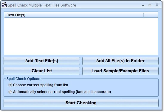 Spell Check Multiple Text Files Software
