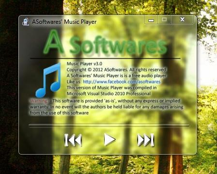 ASoftware's Music Player