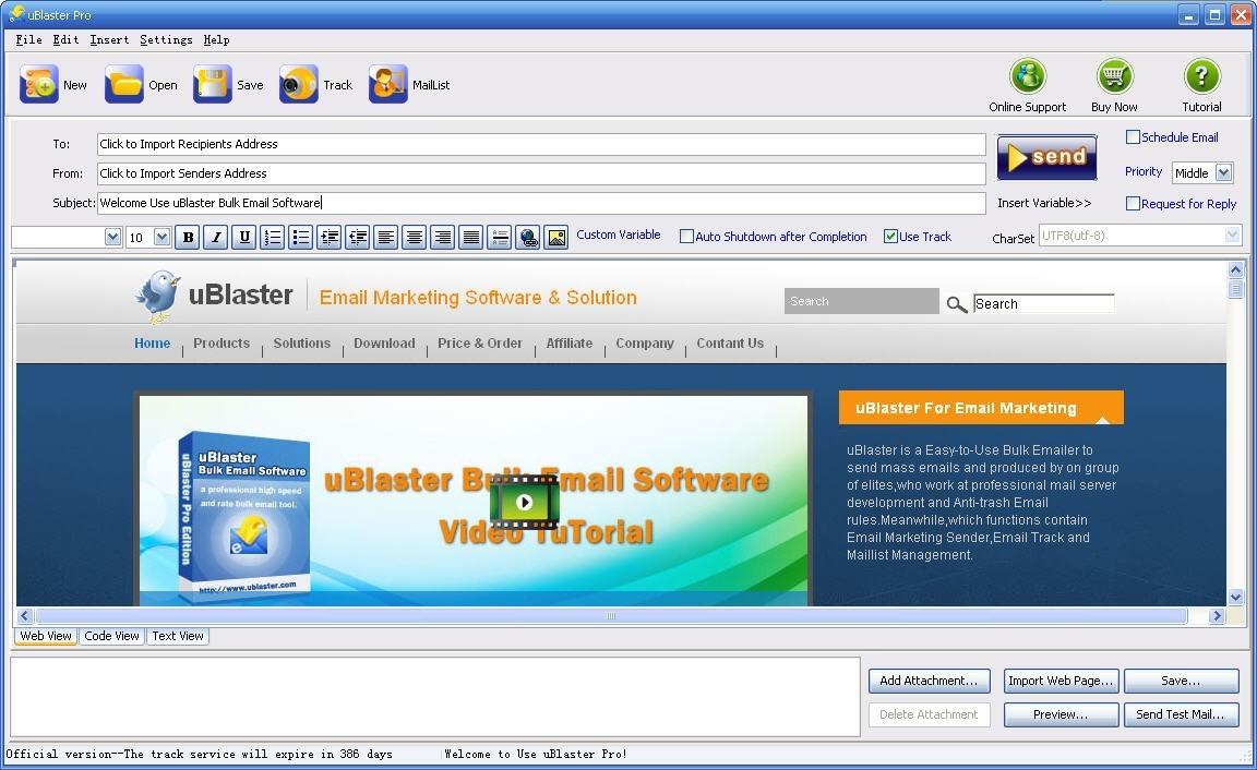UBlaster Pro - bulk email software