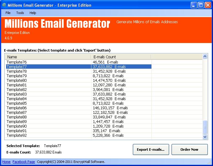 Millions Email Generator Platinum