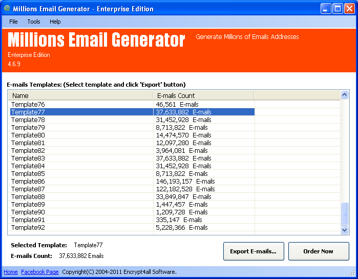 Millions Email Generator Lite Edition