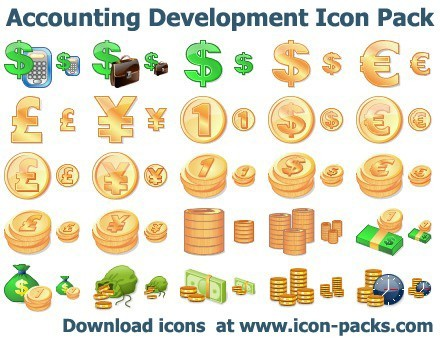 Accounting Development Icon Pack