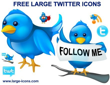 Free Large Twitter Icons