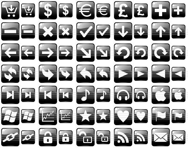 Black Web Buttons
