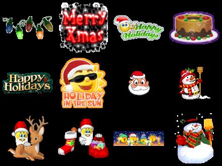 Free Christmas Emoticons