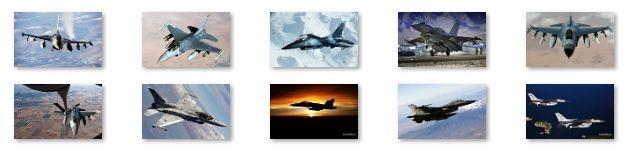 F16 Jet Aircraft Windows 7 Theme