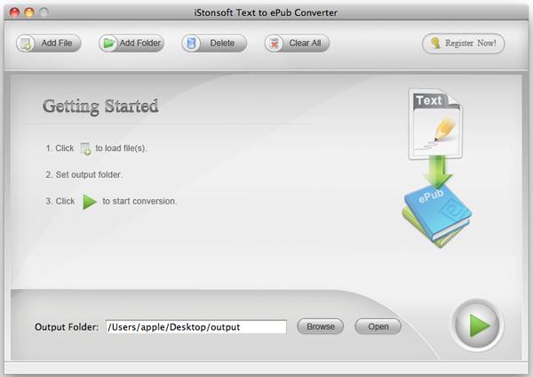 IStonsoft Text to ePub Converter for Mac