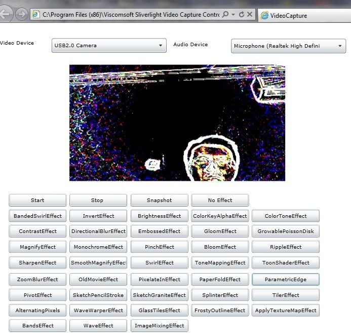 Sliverlight .NET Video Capture SDK