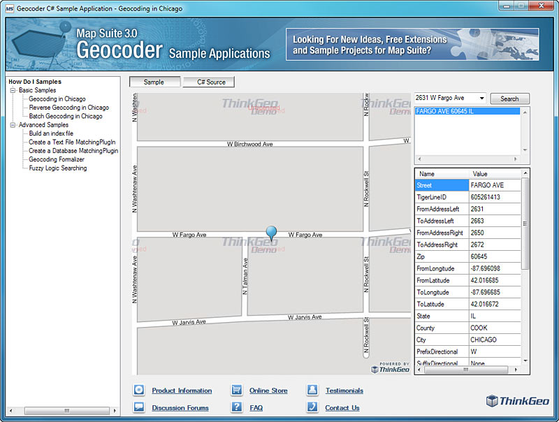 Map Suite Geocoder