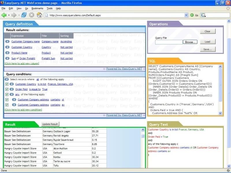EasyQuery.NET WPF