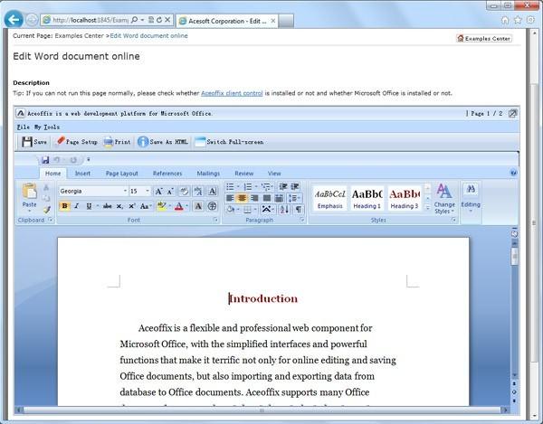 Aceoffix Enterprise Edition For Java - Free Aceoffix