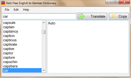 Kets Free English to German dictionary