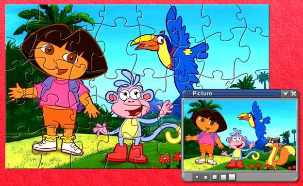 PD1 Lovely Dora Puzzle Games
