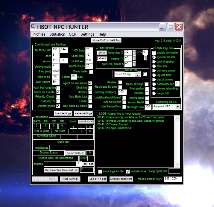 Eve Online Bot H-Bot Npc Hunter