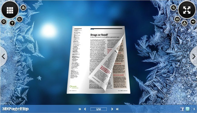 Ice Style Theme for 3D Page Turning Book