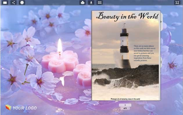 Page Flip Book Template - Candle Style