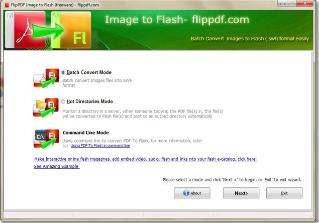 FlipPDF Free Image to Flash Converter