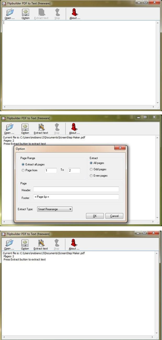 FlipBuilder PDF to Text (Freeware)
