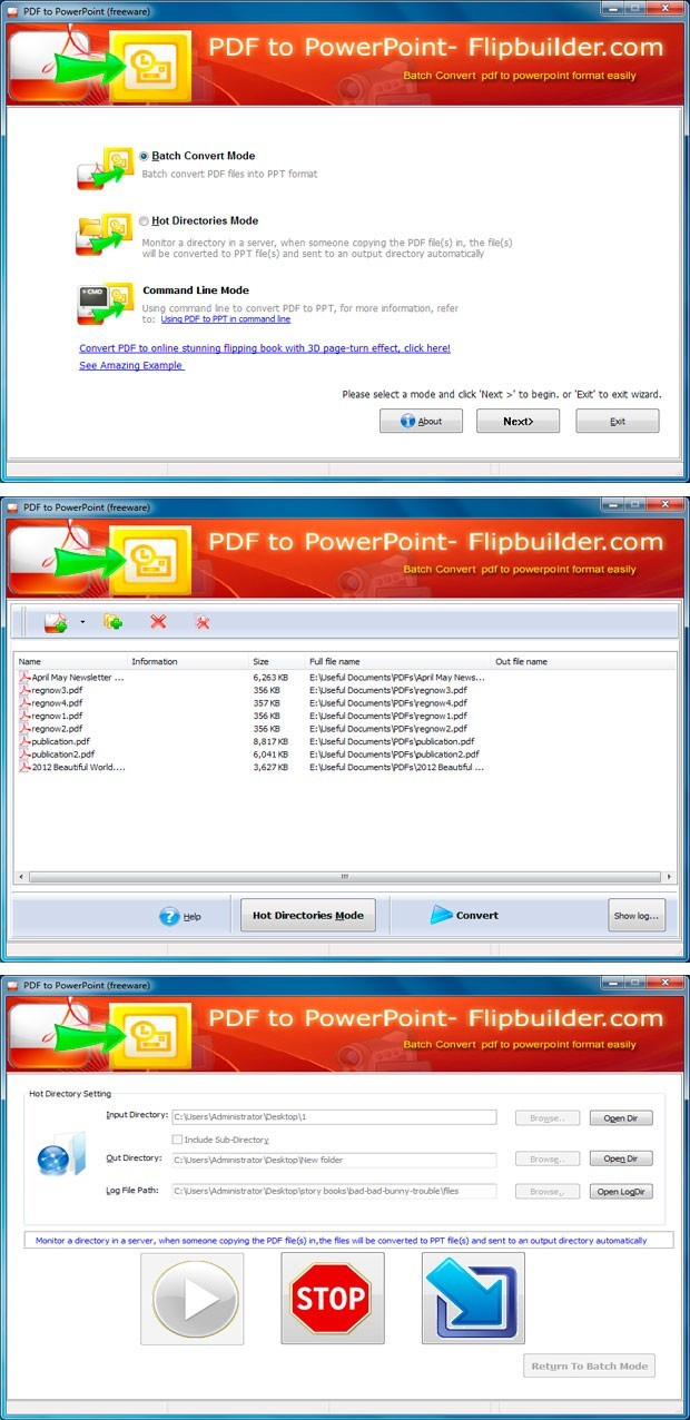 FlipBuilder PDF to PPT (Freeware)