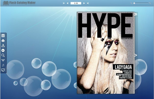 Flash Catalog Templates of Bubble Style