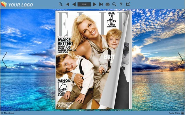 Flash Magazine Themes for Cloud Style