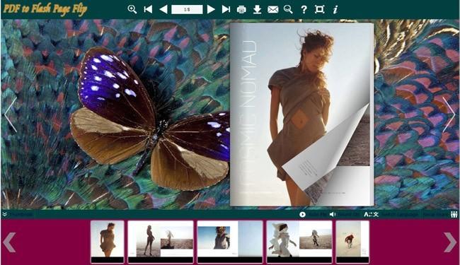 Butterflies Templates for Flash FlipBook